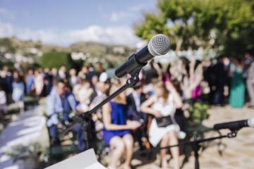 wedding microphone event